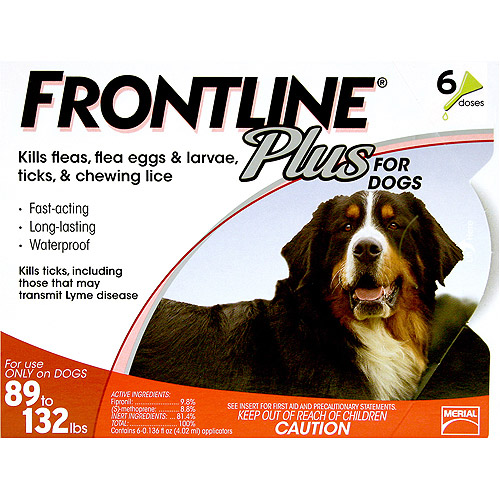 Flea Control Plus for Dogs And Puppies 89-132 lbs 6 Pack