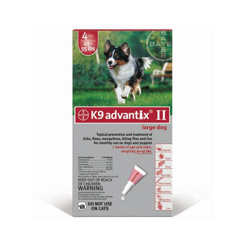 Flea and Tick Control for Dogs 20-55 lbs 4 Month Supply