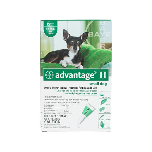 Flea Control for Dogs and Puppies Under 10 lbs 6 Month Supply