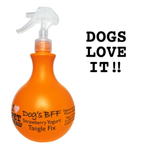 Dog's B.F.F. Tangle Fix Spray Strawberry Yogurt 15oz