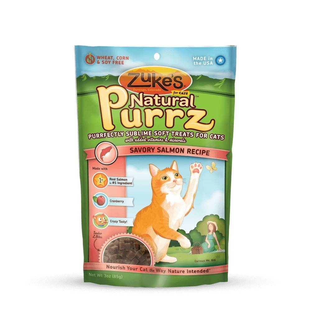 Natural Purrz Healthy Moist Treats for Cats Salmon